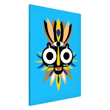 Lavagna magnetica - Collage Mask Ethnic - Big Eyes - Formato verticale 2:3