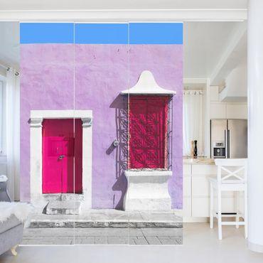 Tende scorrevoli set - Pink Facade Pink Door