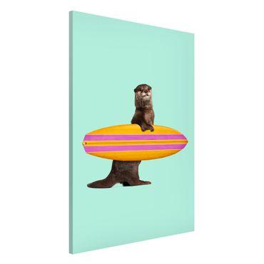 Lavagna magnetica - Lontra con il surf - Formato verticale 2:3