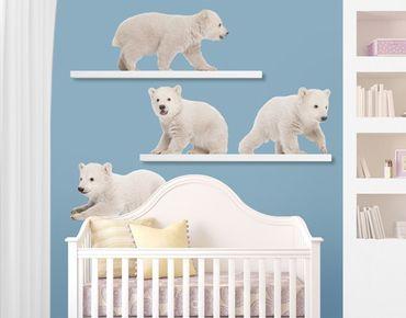 Adesivo murale no.642 Polar Bear Brothers
