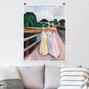 Poster - Edvard Munch - Tre ragazze - Verticale 4:3