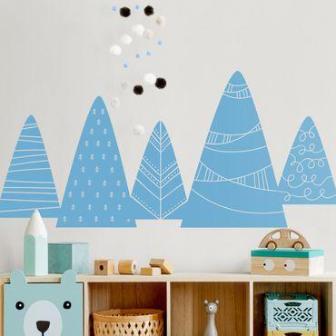 Adesivo murale - Montagne Con pattern