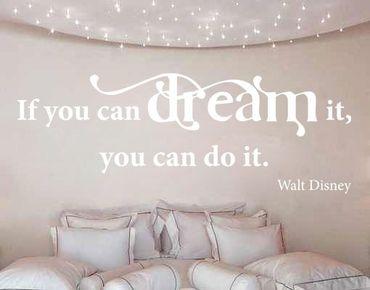 Adesivo murale no.CA31 Dream It