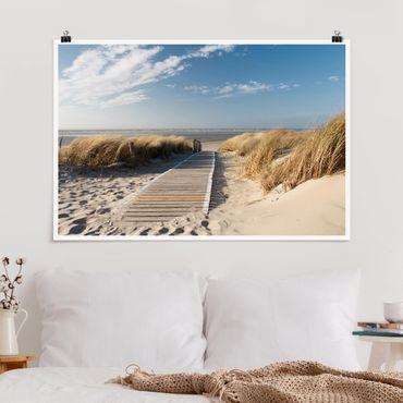 Poster - Spiaggia del Mar Baltico - Orizzontale 2:3