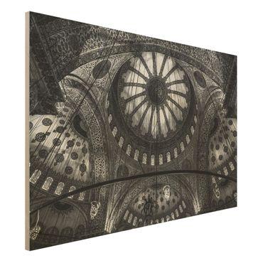 Quadro in legno - Le cupole della Moschea Blu - Orizzontale 3:2