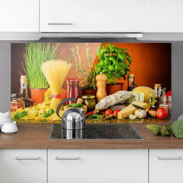 Paraschizzi in vetro - Italian Kitchen - Orizzontale 1:2
