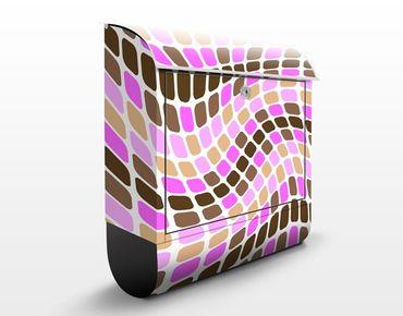 Cassetta postale Dancing Squares 39x46x13cm
