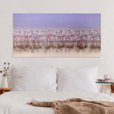 Stampa su tela - Flamingo partito - Orizzontale 2:1