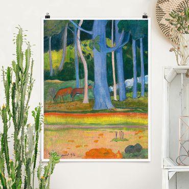 Poster - Paul Gauguin - Paesaggio Foresta - Verticale 4:3