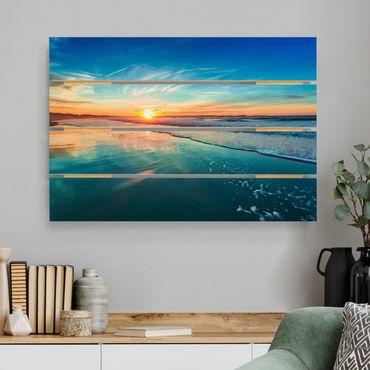 Stampa su legno - Romantico tramonto sul mare - Orizzontale 2:3