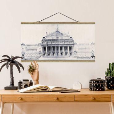 Foto su tessuto da parete con bastone - Prix ??de Rome Sketch II - Orizzontale 1:2