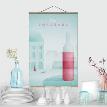 Foto su tessuto da parete con bastone - Poster viaggio - Bordeaux - Verticale 3:2
