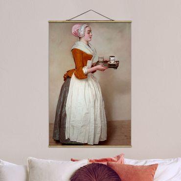 Foto su tessuto da parete con bastone - Jean Etienne Liotard - La ragazza del cioccolato - Verticale 3:2