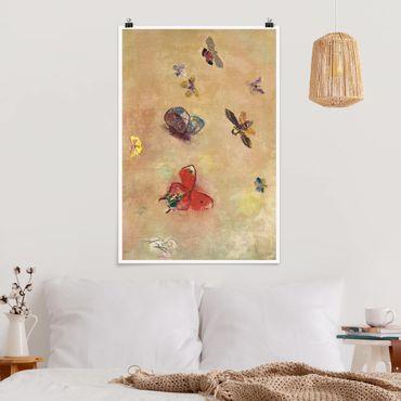 Poster - Odilon Redon - farfalle colorate - Verticale 3:2