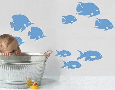 Adesivo murale no.RY26 Shoal Of Fish