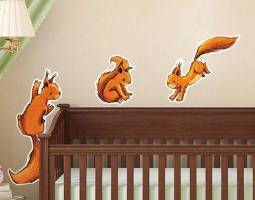 Adesivo murale Three Squirricorn