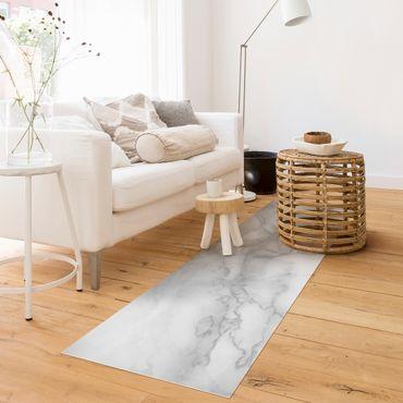 Tappeti in vinile - Effetto marmo bianco e nero - Panorama formato orizzontale