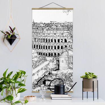 Foto su tessuto da parete con bastone - Città Studi - Roma - Verticale 2:1