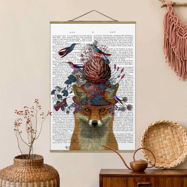 Foto su tessuto da parete con bastone - Fowler - Fox Con Carciofo - Verticale 3:2