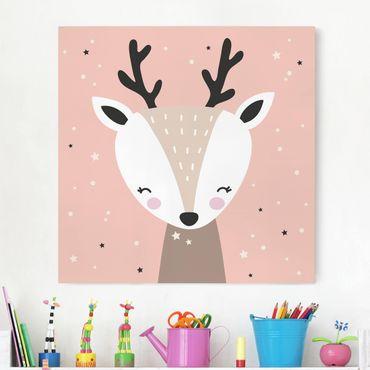 Stampa su tela - Happy Deer - Quadrato 1:1