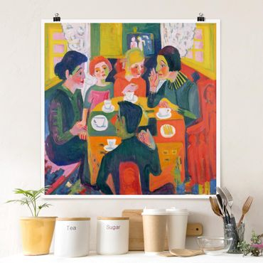 Poster - Ernst Ludwig Kirchner - Tavolino - Quadrato 1:1