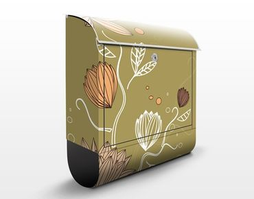 Cassetta postale Art Nouveau Flower 39x46x13cm