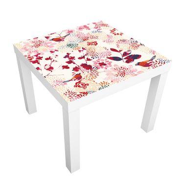 Carta adesiva per mobili IKEA - Lack Tavolino Fancy Birds