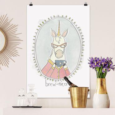 Poster - caffeina Unicorn - Verticale 3:2