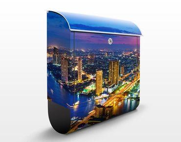 Cassetta postale Bangkok Skyline 39x46x13cm