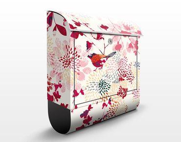 Cassetta postale Fancy Birds 39x46x13cm