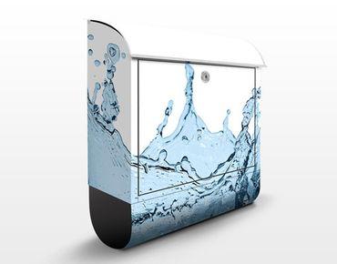 Cassetta postale Blue Water Splash 39x46x13cm