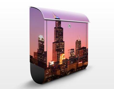 Cassetta postale Chicago Skyline 39x46x13cm