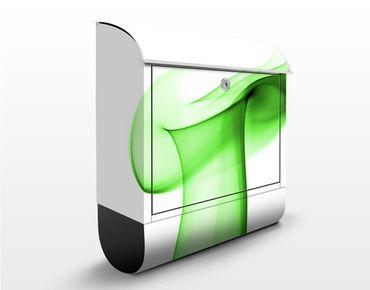 Cassetta postale Green Glitter 39x46x13cm