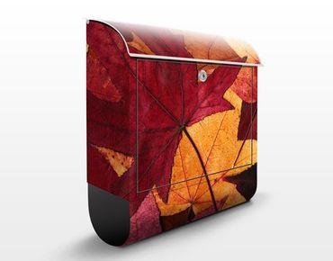 Cassetta postale Coloured Leaves 39x46x13cm