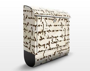 Cassetta postale Da Vinci Manuskript 39x46x13cm
