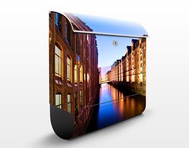 Cassetta postale Hamburg Speicherstadt 39x46x13cm