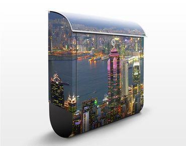 Cassetta postale HongKong Skyline 39x46x13cm
