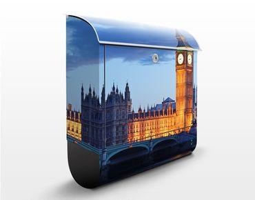 Cassetta postale London At Night 39x46x13cm