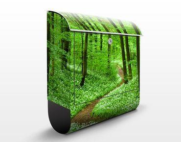 Cassetta postale Romantic Forest Track 39x46x13cm