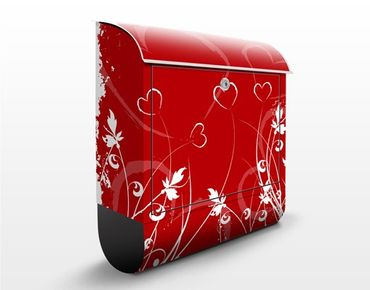 Cassetta postale Hearts of Flower 39x46x13cm
