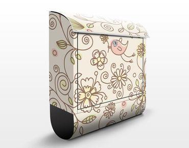 Cassetta postale Birds and Flowers 39x46x13cm