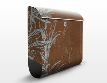 Cassetta postale Blue Flower Study 39x46x13cm
