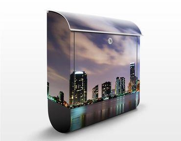 Cassetta postale Miami at Night 39x46x13cm