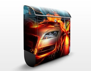 Cassetta postale Burning Asphalt 39x46x13cm
