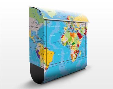 Cassetta postale The World's Countries 39x46x13cm