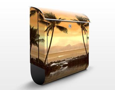 Cassetta postale Caribbean Sunset I 39x46x13cm