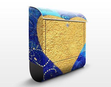 Cassetta postale Heart of Gold 39x46x13cm