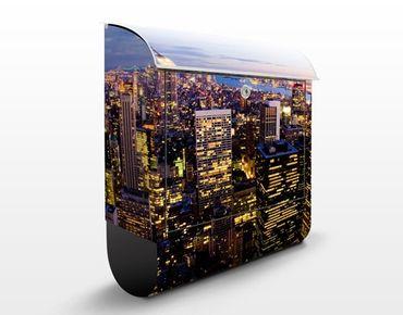 Cassetta postale New York Skyline at Night 39x46x13cm