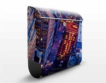 Cassetta postale Manhattan Taxi Lights 39x46x13cm