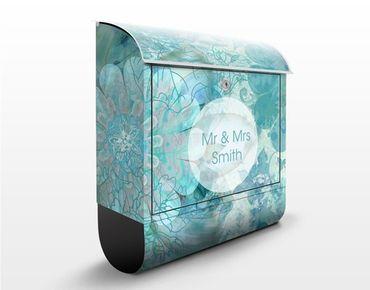 Cassetta postale personalizzata Winter Flowers 39x46x13cm
